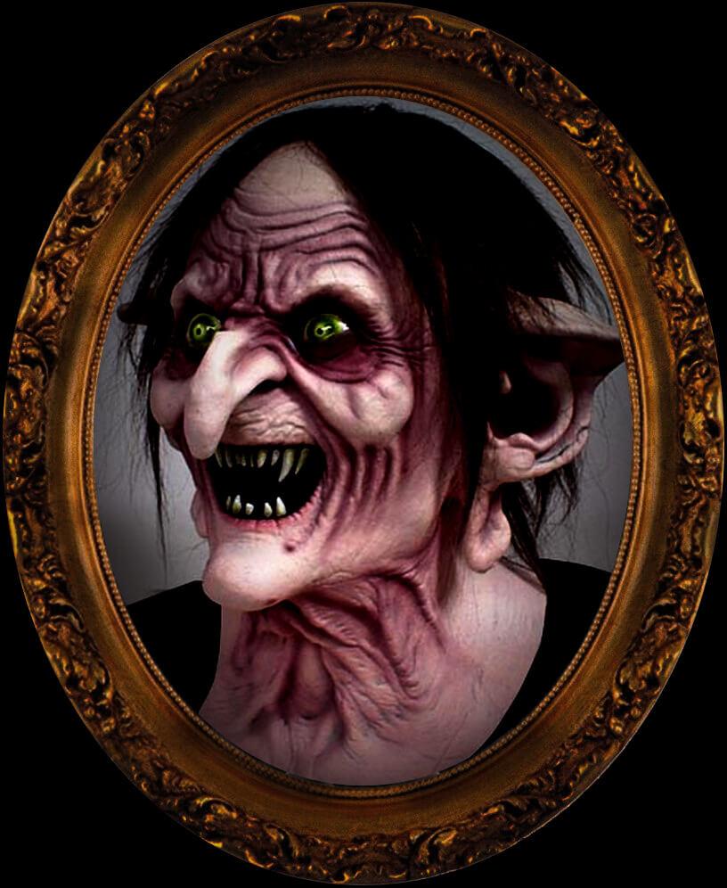 Blind Scream swamp witch in frame